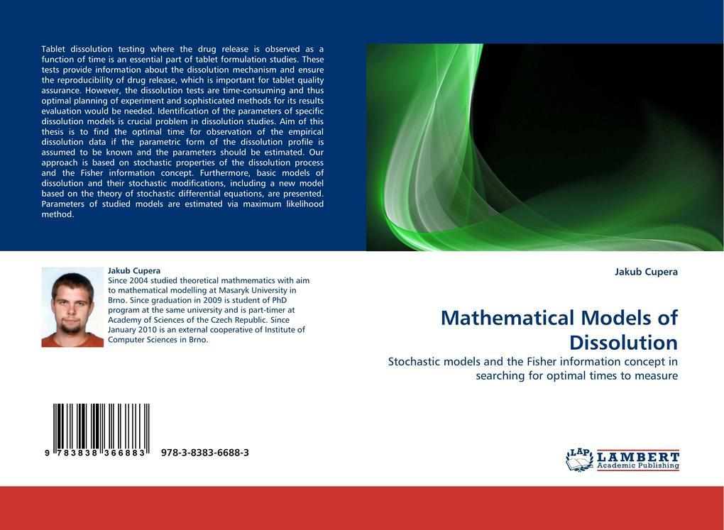 Mathematical Models of Dissolution als Buch von...