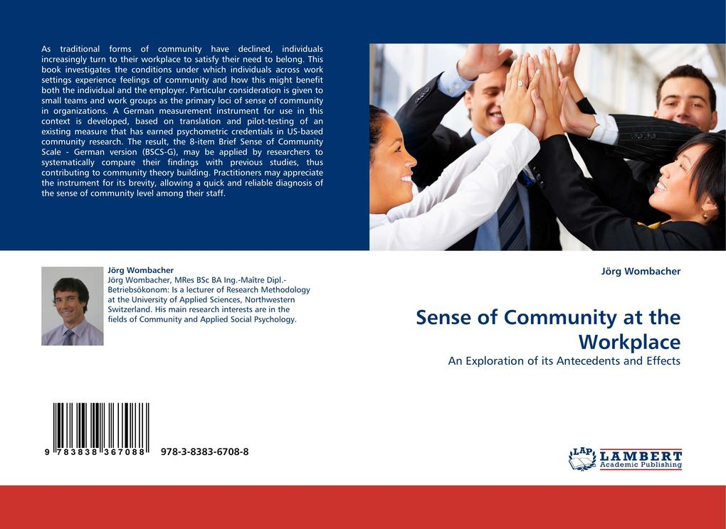 Sense of Community at the Workplace als Buch vo...