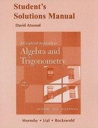 A Graphical Approach to Algebra and Trigonometry: Student's Solutions Manual