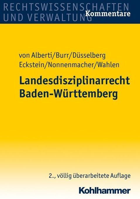 Landesdisziplinarrecht Baden-Württemberg als Bu...