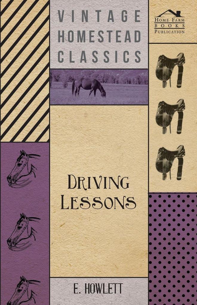 Driving Lessons als Taschenbuch von E. Howlett