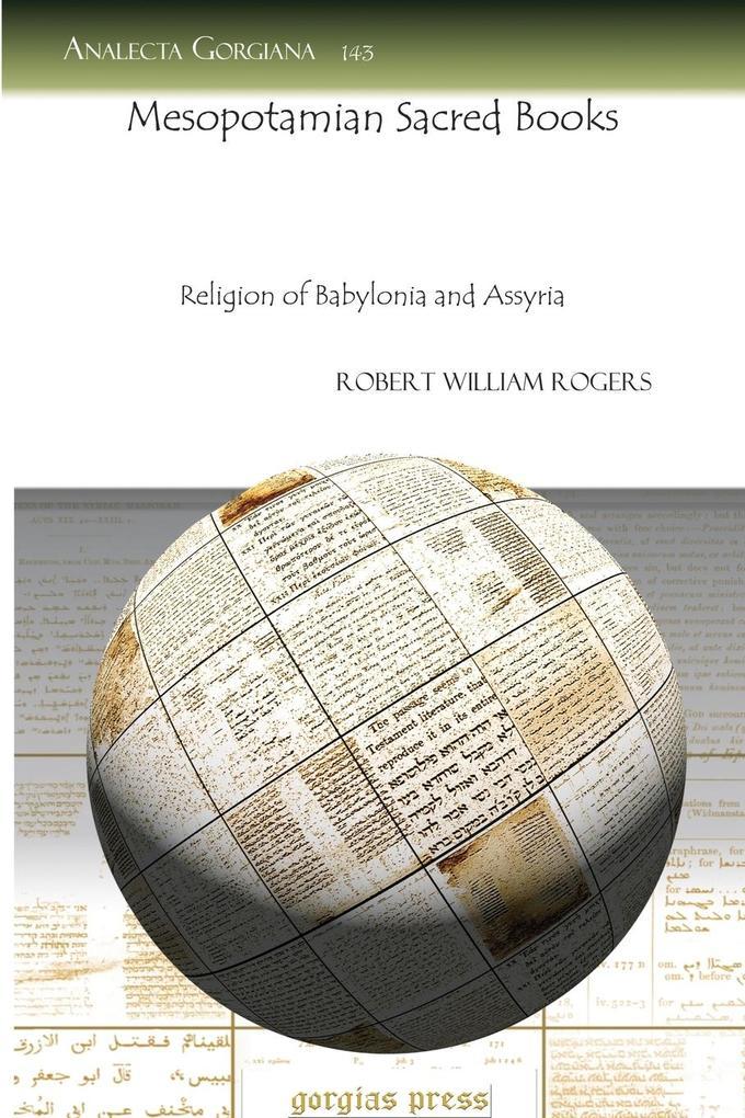 Mesopotamian Sacred Books als Taschenbuch von R...