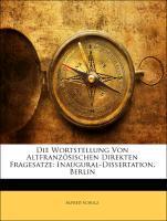 Die Wortstellung Von Altfranzösischen Direkten ...