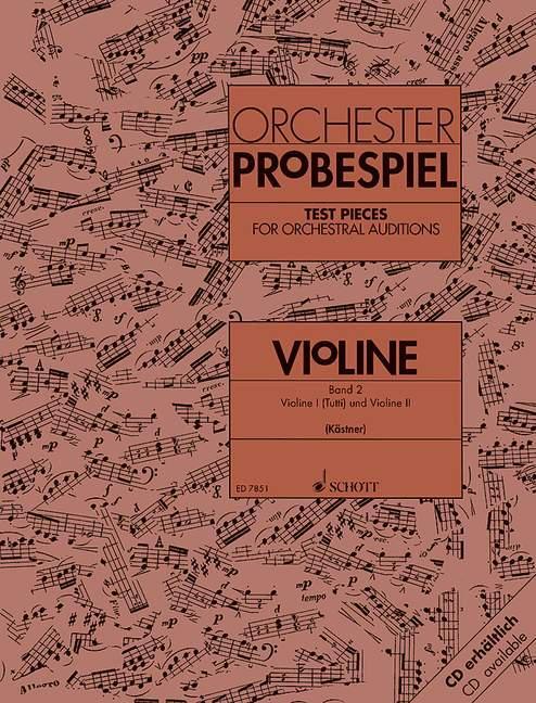 Orchester-Probespiel Violine als Buch von