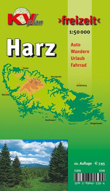 Harz Freizeitkarte 1: 50 000 als Buch von