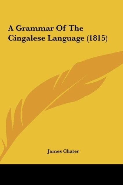 A Grammar Of The Cingalese Language (1815) als ...