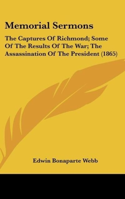 Memorial Sermons als Buch von Edwin Bonaparte Webb - Edwin Bonaparte Webb