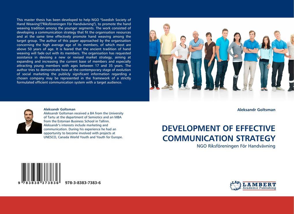 DEVELOPMENT OF EFFECTIVE COMMUNICATION STRATEGY als Buch von Aleksandr Goltsman - Aleksandr Goltsman