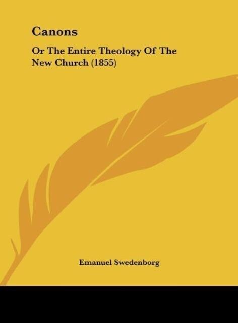 Canons als Buch von Emanuel Swedenborg - Emanuel Swedenborg