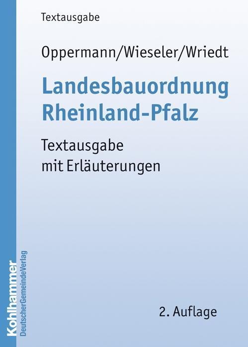 Landesbauordnung Rheinland-Pfalz als Buch von H...