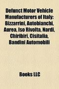 Defunct motor vehicle manufacturers of Italy