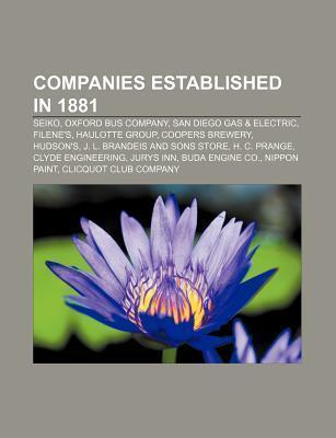 Companies established in 1881 als Taschenbuch von