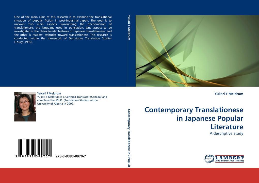 Contemporary Translationese in Japanese Popular Literature als Buch von Yukari F Meldrum - Yukari F Meldrum