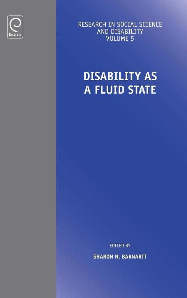 Disability as a Fluid State als Buch (gebunden)