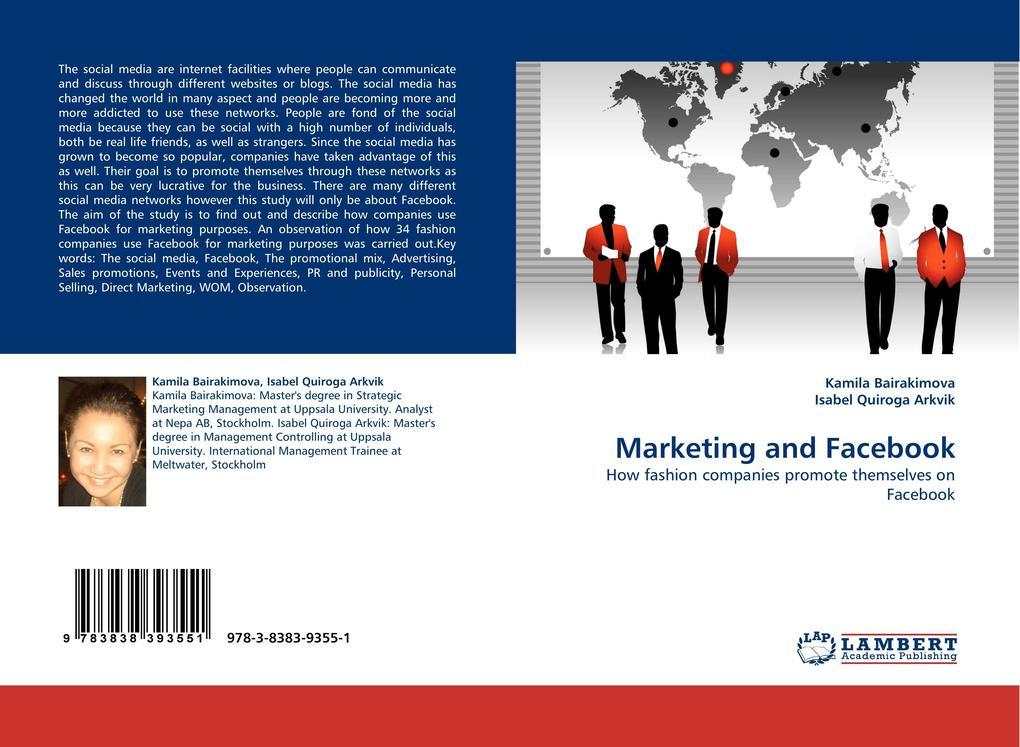 Marketing and Facebook als Buch von Kamila Bair...