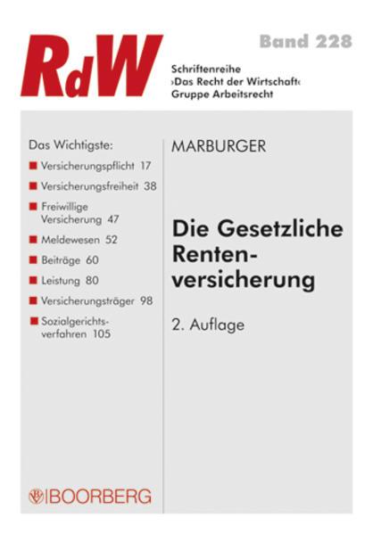 Gesetzliche Rentenversicherung als Buch von Horst Marburger - Horst Marburger