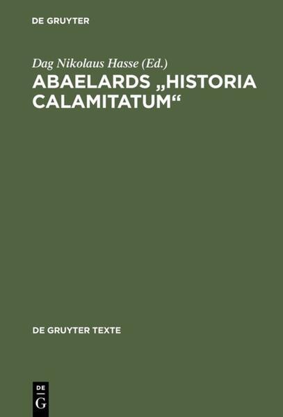 Abaelards ' Historia calamitatum' als Buch