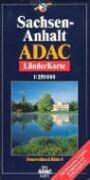 ADAC LänderKarte Sachsen-Anhalt plano 1 : 250 000