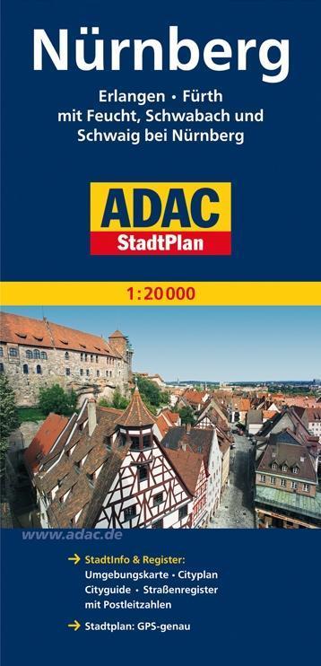 ADAC Stadtplan Nürnberg 1 : 20 000 als Buch