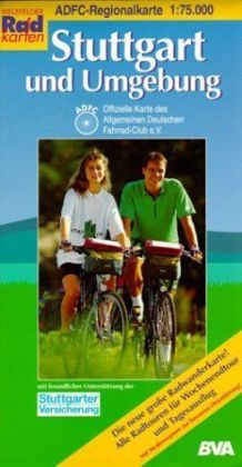 ADFC-Regionalkarte Stuttgart und Umgebung 1 : 75 000 als Buch (gebunden)