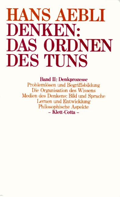 Denken: das Ordnen des Tuns II als Buch