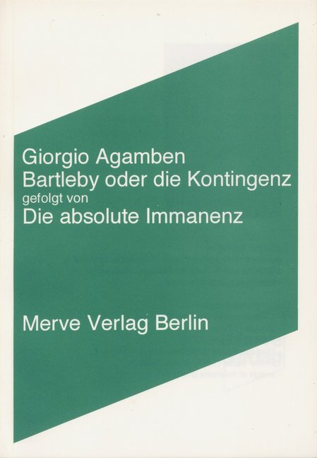 Bartleby oder die Kontingenz als Buch