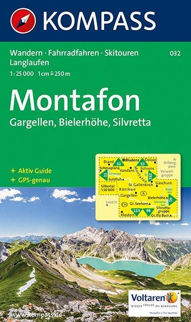 Montafon, Gargellen, Bielerhöhe, Silvretta 1 : 25 000 als Buch