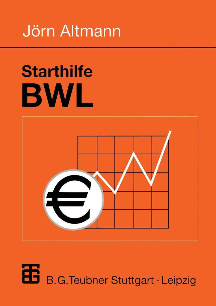 Starthilfe BWL als Buch