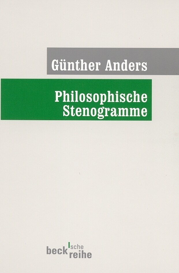 Philosophische Stenogramme als Taschenbuch