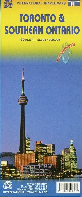 Toronto 1 : 12 000 & Southern Ontario 1 : 800 000 Travel Map als Buch