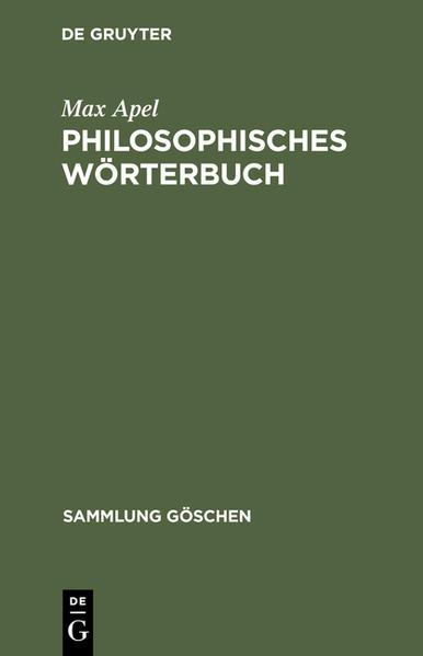 Philosophisches Wörterbuch als Taschenbuch
