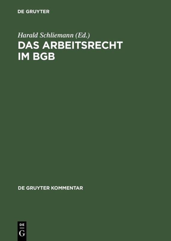 Das Arbeitsrecht im BGB als Buch (gebunden)