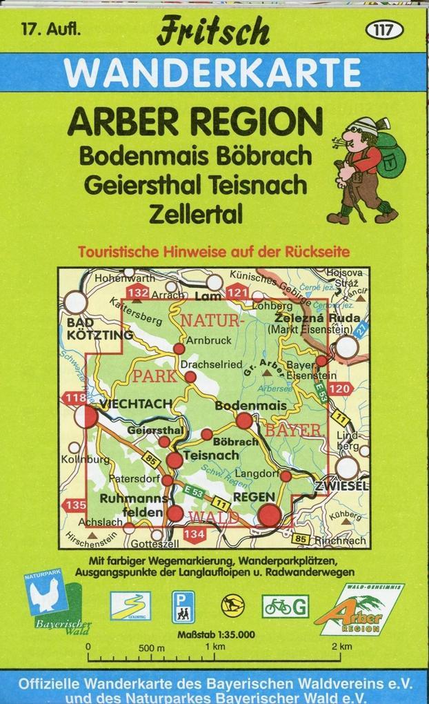 Fritsch Wanderkarte Arber Region 1 : 35 000 als Buch