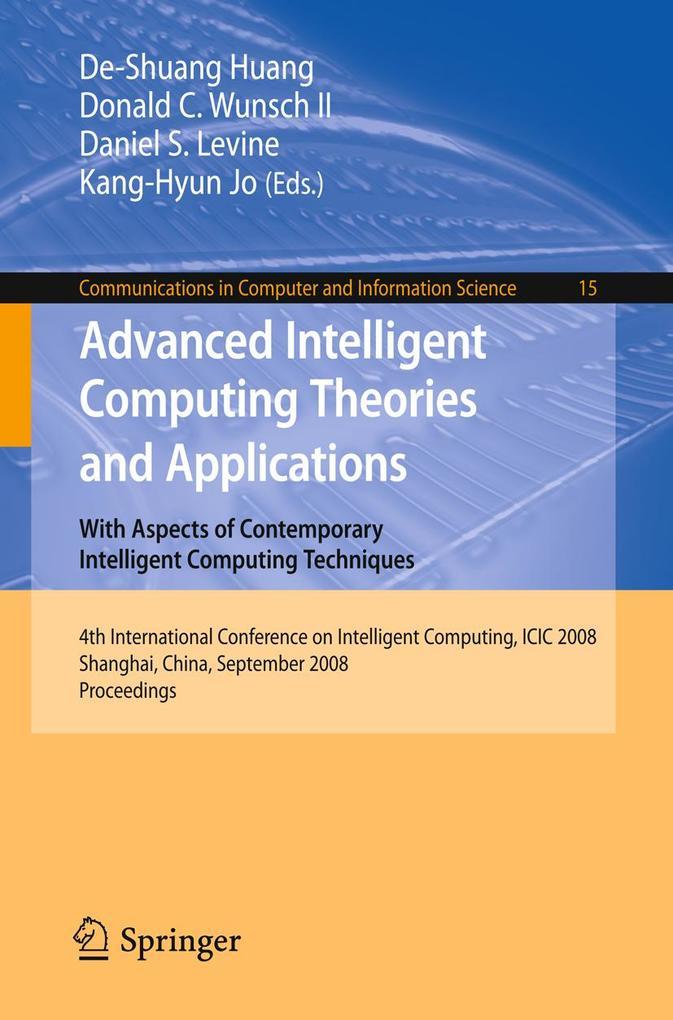 Advanced Intelligent Computing Theories and Applications als eBook Download von