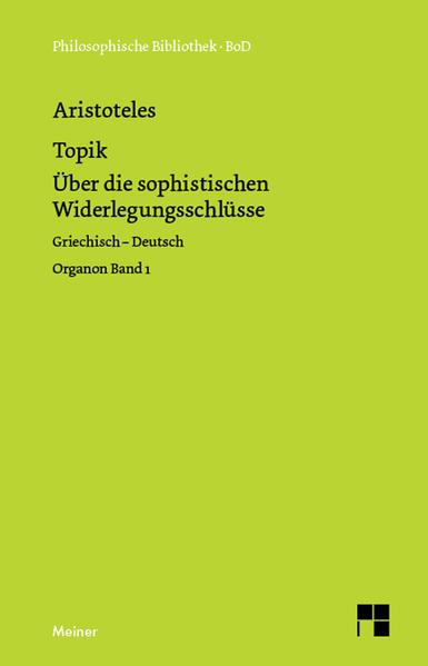Topik. Topik, neuntes Buch oder Über die sophistischen Widerlegungsschlüsse als Buch