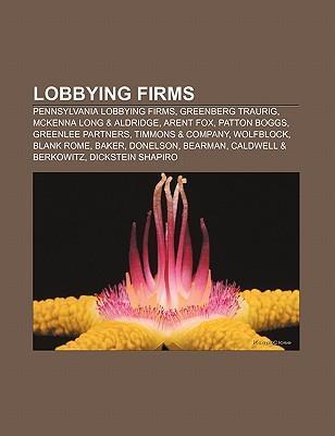 Lobbying firms als Taschenbuch von