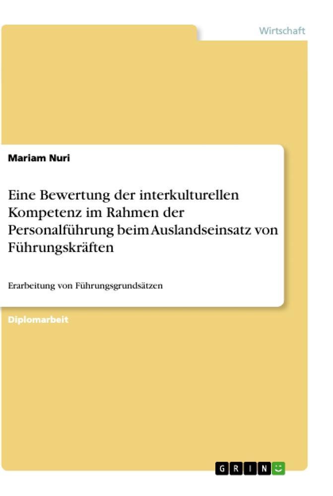 Eine Bewertung der interkulturellen Kompetenz i...