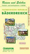 Höfer Tschechische Rep. CR301: Bäderdreieck - Freizeit- und Ausflugskarte 1 : 100 000