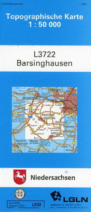 Barsinghausen 1 : 50 000. (TK 3722/N) als Buch