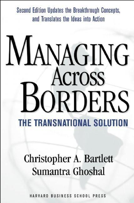 Managing Across Borders als Buch