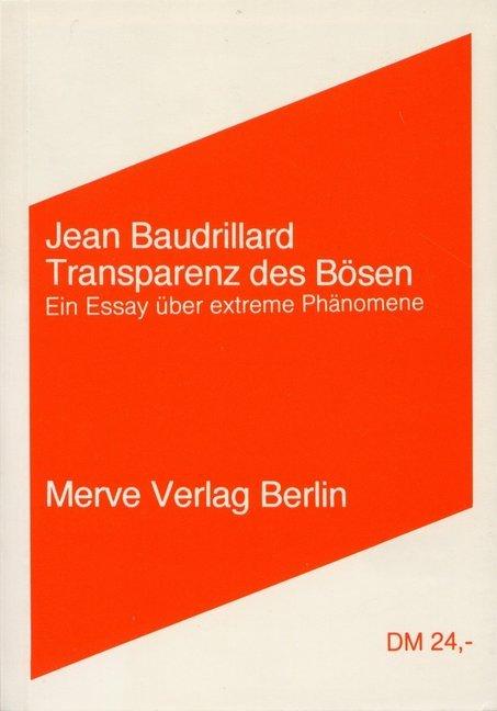 Transparenz des Bösen als Buch