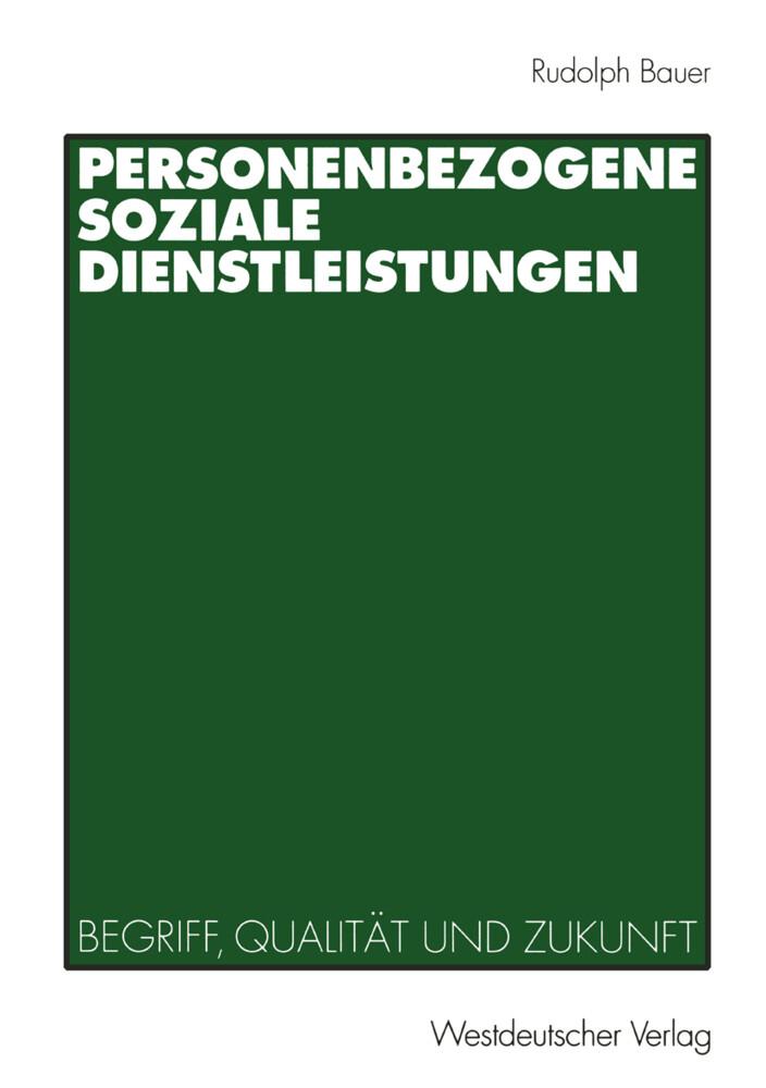 Personenbezogene Soziale Dienstleistungen als Buch
