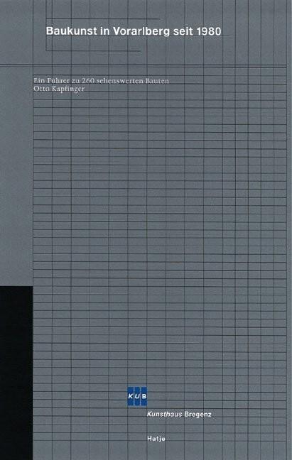 Baukunst in Vorarlberg seit 1980 als Buch
