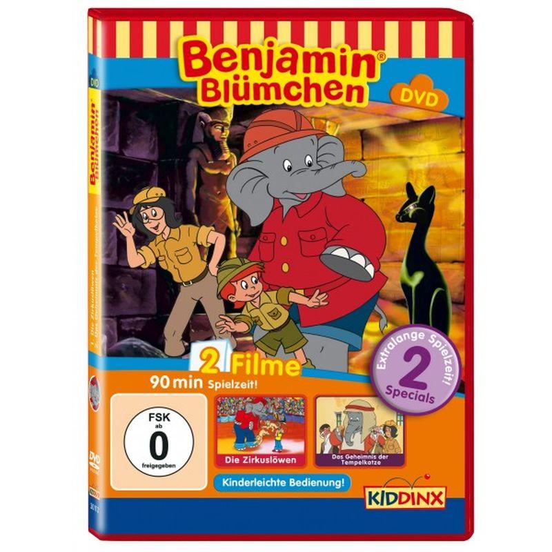 Benjamin Blümchen Die Zirkuslöwen - Das Geheimnis der Tempelkatze als DVD