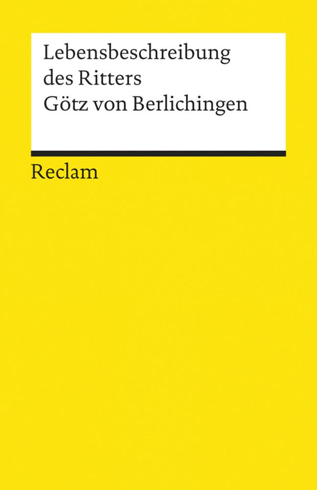 Die Lebensbeschreibung des Ritters Götz von Berlichingen als Taschenbuch