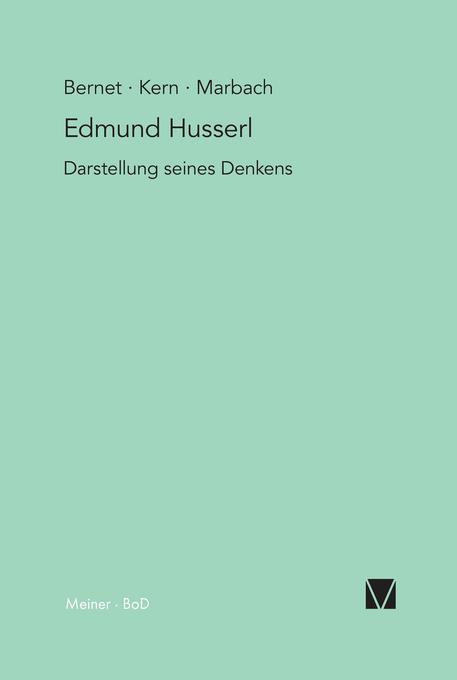 Edmund Husserl - Darstellung seines Denkens als Buch