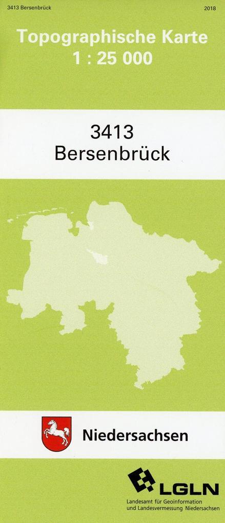 Bersenbrück 1 : 25 000. (TK 3413/N) als Buch von