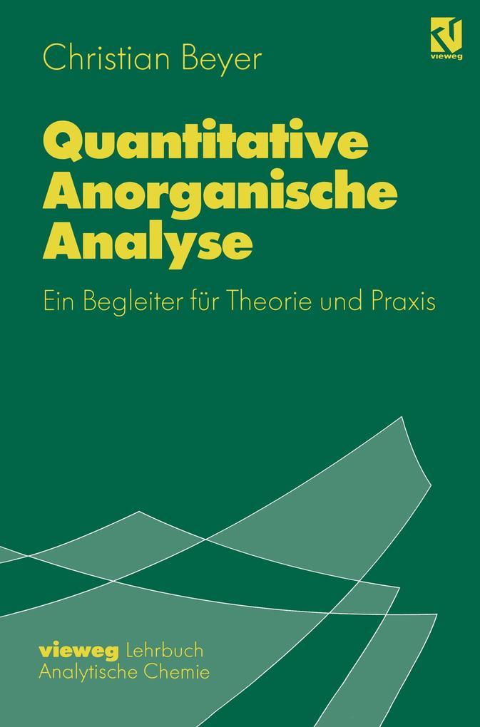 Quantitative Anorganische Analyse als Buch