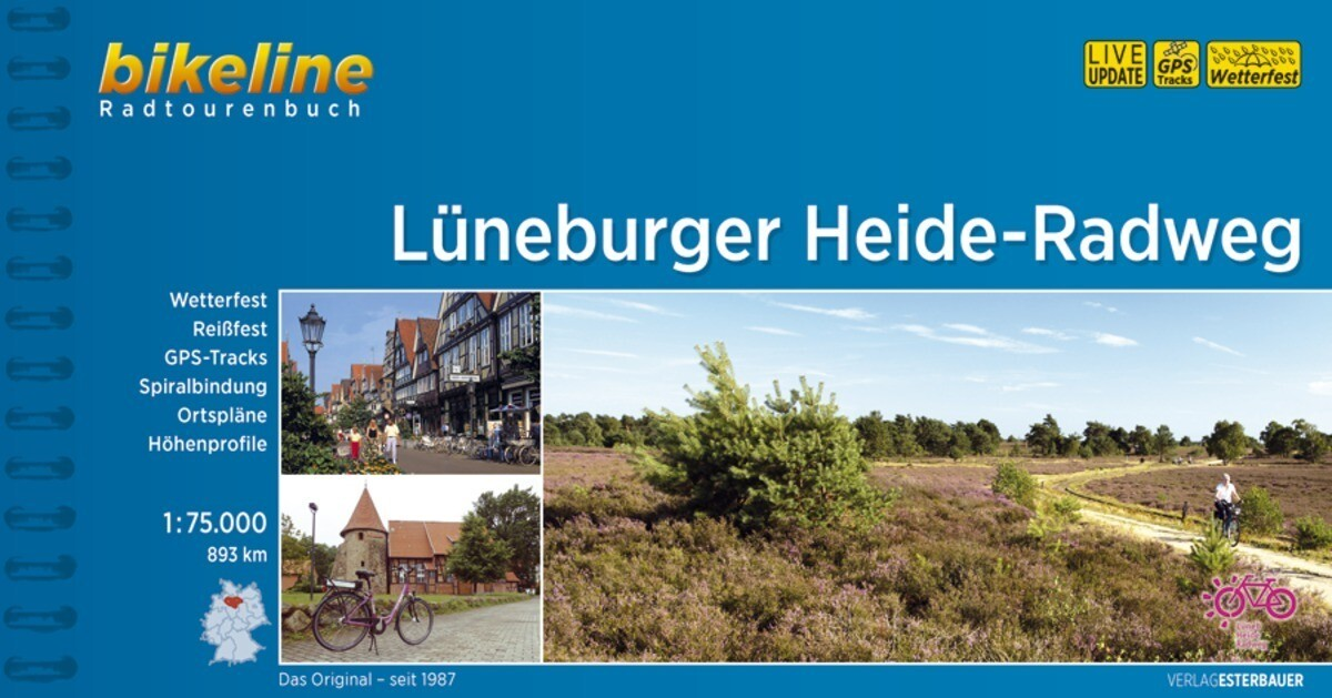 Bikeline Lüneburger Heide-Radweg als Buch