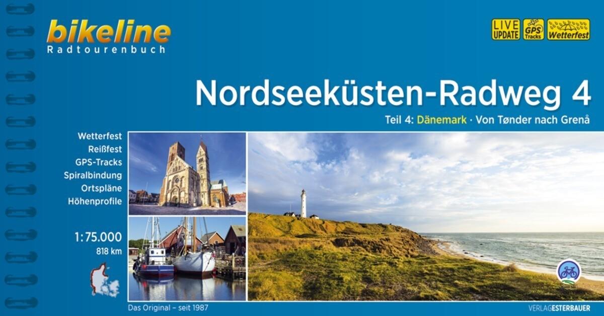 Bikeline Nordseeküsten-Radweg 4 Nordseeküsten-Radweg. 1:75000 als Buch
